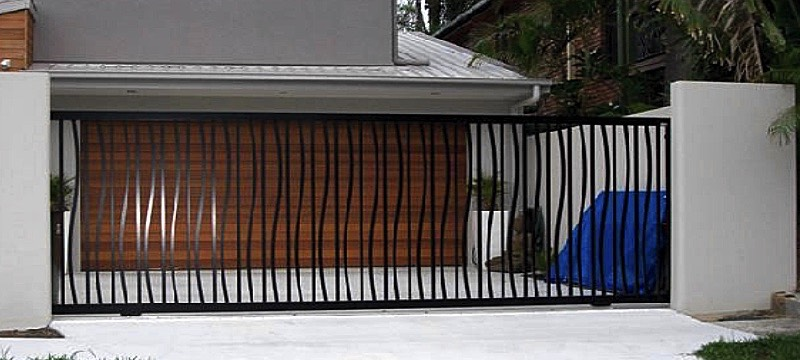wrought iron automatic slider gate